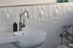 Pressed Tin Panel Art-Nouveau Dado Bathroom