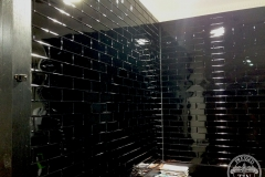Brick Commercial Splashback- Black Gloss