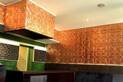 Pressed Tin Panels Shield in Copper - 5 Points Deli