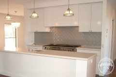 Maze - Kitchen Splashback - Interpon Mercury Silver