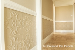 Pressed Tin Panels Melbourne pattern - dado wall