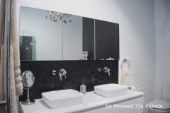 Original Bathroom Splashback Gloss Black Basin