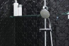 PressedTinPanels_Original Bathroom Shower Recess Gloss Black