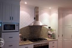 Original - Kitchen Wall Feature-White Satin