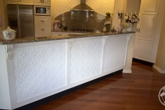 Original - Kitchen Wall & Bench Feature-White Satin