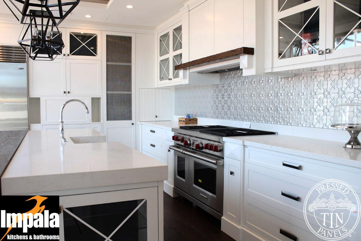 Original natural impala kitchens bathrooms for Hamptons style kitchen splashback