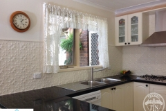 Pressed Tin Panels Original Kitchen Splashback - white