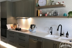 Savannah - Kitchen Splashback -Interpon White Satin