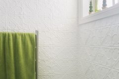 Pressed Tin Panels Snowflakes - Bathroom Walls -Pearl White