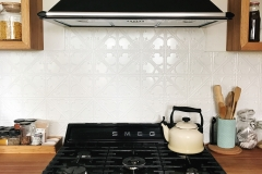 Snowflakes - Kitchen Splashback - Interpon White Satin