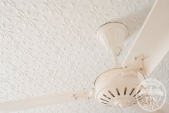 Pressed Tin Panels Acorn Ceiling and Egg & Darte Cornice fan