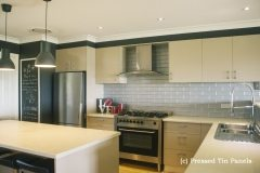 Brick Kitchen Splash back- Mercury Silver