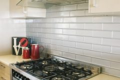 Brick Kitchen Splash back- Mercury Silver