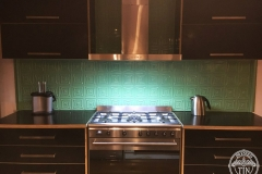 Carnivale Kitchen Splashback Serpentine Green  Low Light