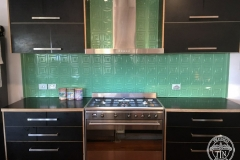 Carnivale Kitchen Splashback Serpentine Green