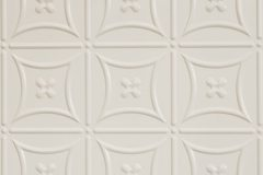 'Carnivale' pattern in Interpon powder coat colour 'White Satin'