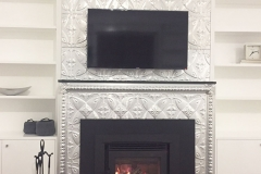 Pressed Tin Panels Carousel Fire Place Feature raw
