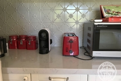 Pressed Tin Panels Clover Kitchen Splashback Mercury Silver Powder Coat Close