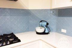 Clover pattern in Misty Blue