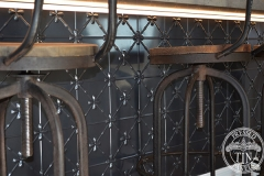 Pressed Tin Panels Clover Counter Front Steel Pearl