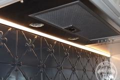 Pressed Tin Panels Clover Kitchen Splashback Steel Pearl range hood