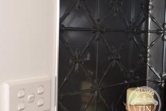 Pressed Tin Panels Clover Kitchen Splashback Steel Pearl tile edging