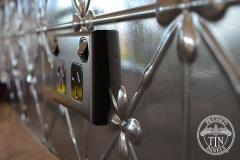 Pressed Tin Panels Clover Kitchen Splashback Steel Pearl power point