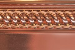 Copper Barbers Pole Border Under Over Design