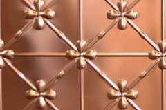 Clover pattern in Copper panel