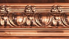 Copper Egg & Grape Cornice 1840mm Approx.