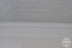 Pressed metal ceiling install progress