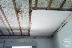 Pressed metal ceiling install progress