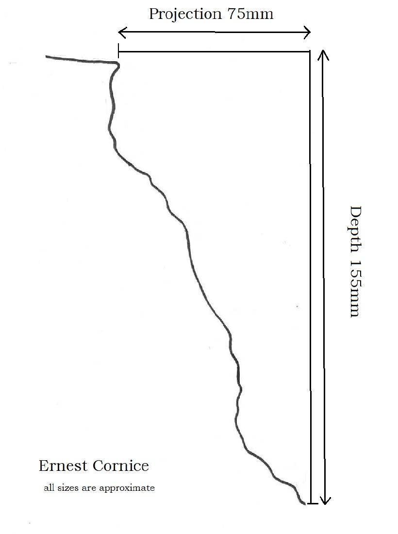 Ernest Cornice Profile measures