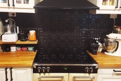 Evans in Black Gloss - Kitchen Splashback