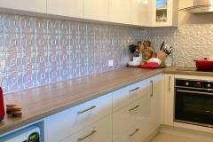 Pressed Tin Panels Evans Kitchen Splashback Raw Full