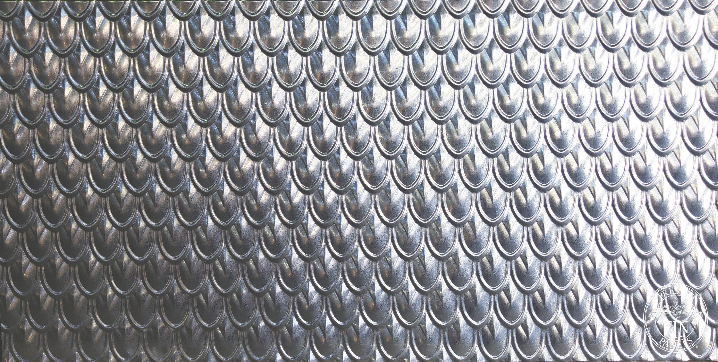 Fish Scale Galvanised 920mm x 1830mm full panel