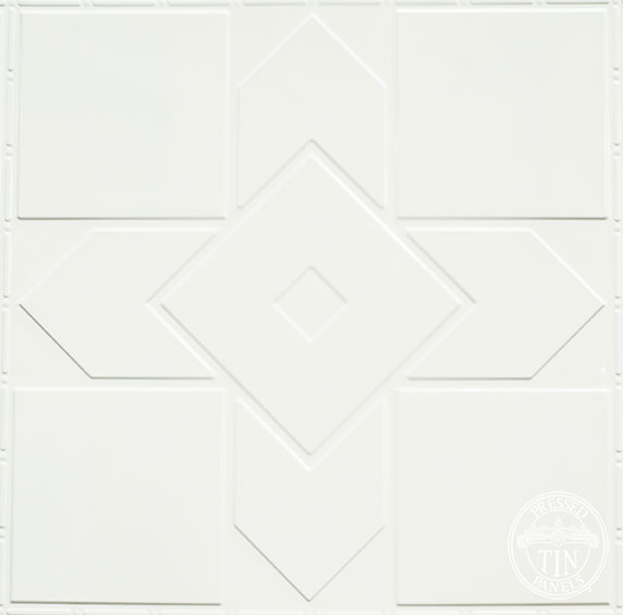 Hudson pattern repeat - powder coated Classic White