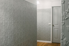 Pressed Tin Panels Lily Vertical Feature Wall Hallway Shale Grey