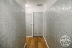 Pressed Tin Panels Lily Vertical Feature Wall Hallway Shale Grey Length
