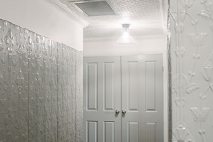 Pressed Tin Panels Lily Vertical Feature Wall Hallway Shale Grey Length Variant