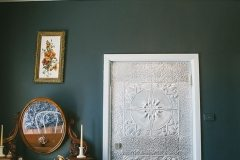 Lotus and Small Rough Cast patterns feature on this bedroom door