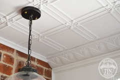Pressed Tin Panels Maddington Ceiling and Macquarie Cornice Light Fitting