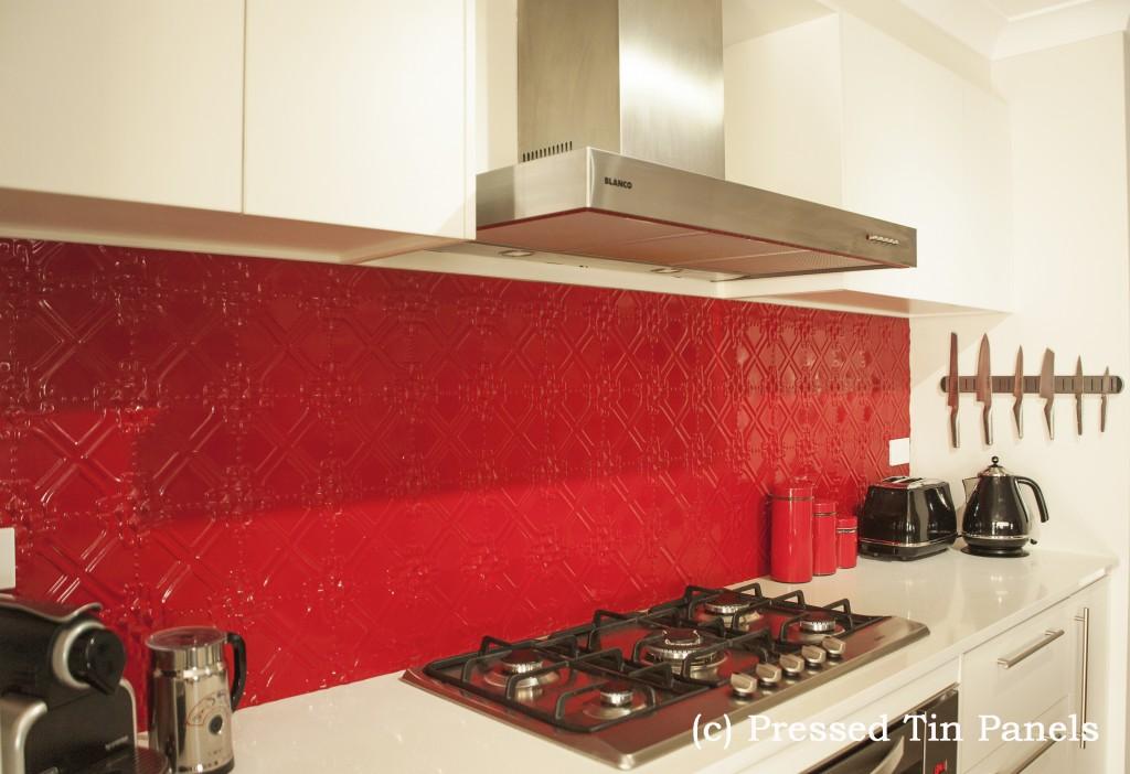 Maze Kitchen Flame Red Splash Back