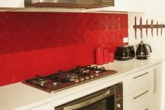 Pressed Tin Panels Maze Splashback Flame Red