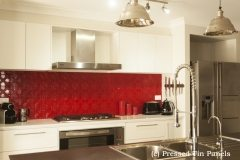 Pressed Tin Panels Splashback Flame Red