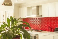 PressedTinPanels Splashback FlameRed