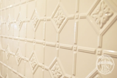 Pressed Tin Panels Mudgee Bathroom  Dulux Classic White Powder Coat Close