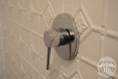 Pressed Tin Panels Mudgee Bathroom  Dulux Classic White Powder Coat Tap Handle