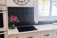 Pressed Tin Panels Mudgee Design Kitchen Splashback Steel Pearl Powder Coat Stove Top