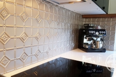 Pressed Tin Panels Mudgee Kitchen Splashback Copper Kinetic Pearl Close